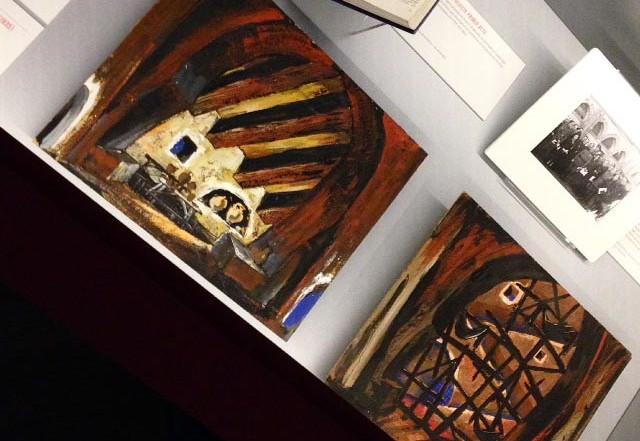 Esbossos escenogràfic de Sigfrid Burmann per Fuenteovejuna a l'exposició