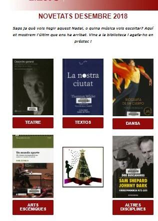 Butlletí de novetats bibliogràfiques i audiovisuals del MAE, desembre de 2018