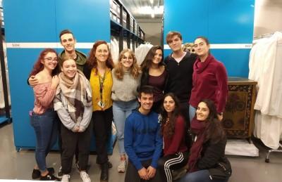 Visita al MAE d'alumnes del batxillerat artístic de l'Institut del Teatre, 18 gener 2019