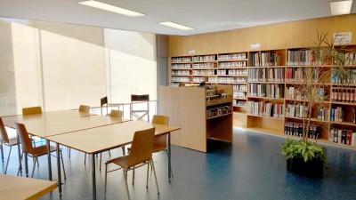 Àrea d'àudio i partitures de la biblioteca de Barcelona del MAE, febrer 2019