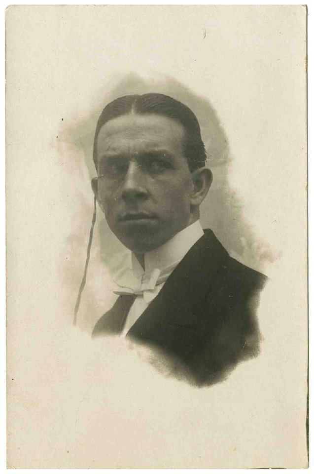 Retrat de Pius Daví de 1913. Fons Maria Vila i Pius Daví del MAE.