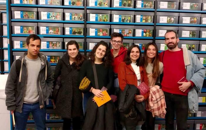 Visita al MAE d'Agitad@rs Lliures (Teatre Lliure ), 12 febrer 2019
