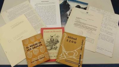 Alguns dels documents del fons Joan Cervera, de teatre i muntanya, 2019