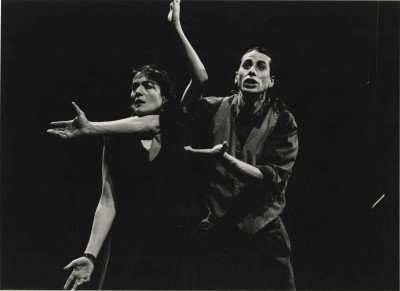 Espectacle Z. Zotal Teatre, 1991. Elena Castelar i Marcel Trias
