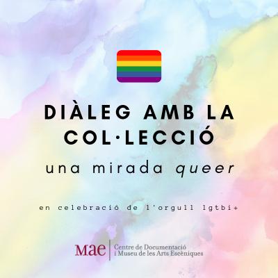 """Cartell de la visita guiada """"Diàleg amb la col·lecció : una mirada queer"""""""
