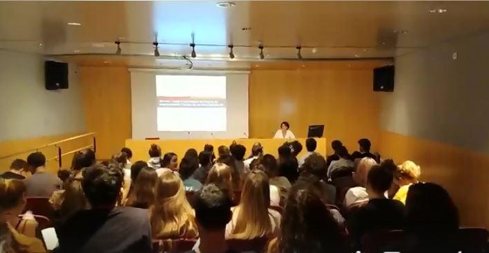 Sessió de formació als alumnes de 1r de l'ESAD, Anna Valls, 12 setembre 2019