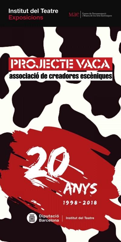 """Cartell de l'exposició itinerant """"Projecte Vaca. Associació de creadores escèniques"""""""