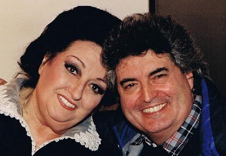 Santi Vela amb Montserrat Caballé