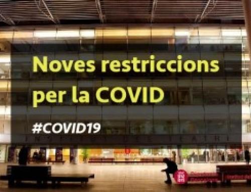 Noves restriccions per la COVID