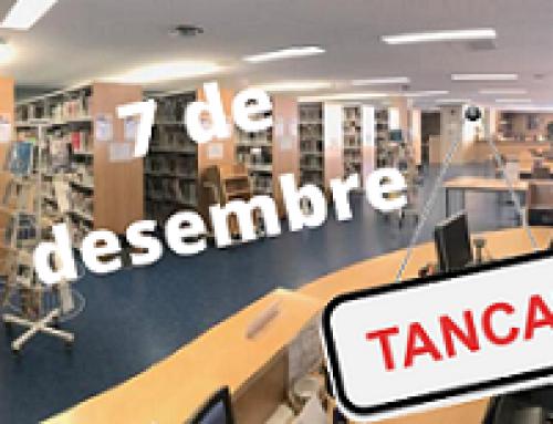 Les biblioteques del MAE estaran tancades el dilluns 7 de desembre