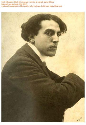 Fotografia de Jaume Pahissa, 1920-1925, de Cunill. Fons Documents Artur Sedó.