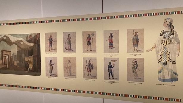 Esbós i figurins de Francesc Soler i Rovirosa per l'òpera Aïda