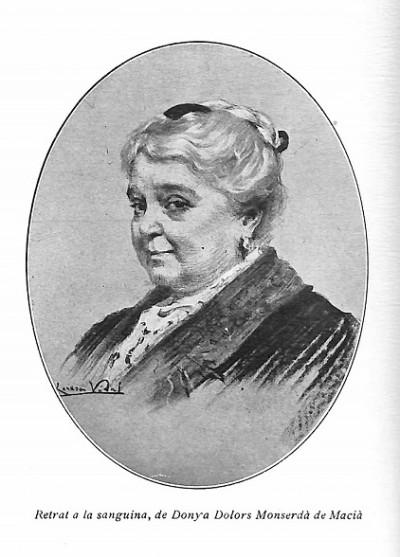 Retrat de Dolors Monserdà publicat a Feminal, juny 1914.