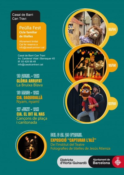 Cartell del Peülla Fest de Can Travi, amb exposició itinerant Capturar l'alè, del 6 al 29 abril 2021