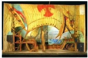 Teatrí per al 2n acte de l'òpera Cristoforo Colombo, estrenada al Gran Teatre del Liceu el 15 de novembre de 1902