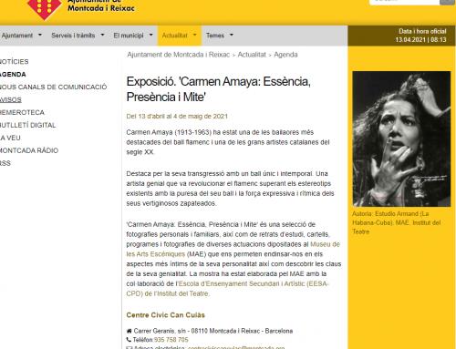 Exposició intinerant Carmen Amaya a Montcada i Reixac