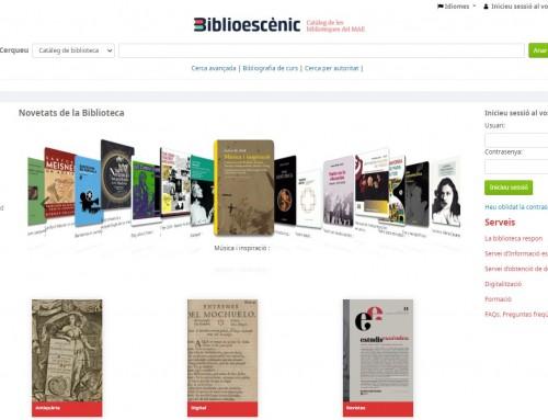 Biblioescènic, el nostre catàleg bibliogràfic i audiovisual, amb nou programari lliure