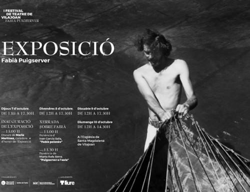 Exposició amb imatges del Fons Puigserver al I Festival de teatre Fabià Puigserver de Vilajoan